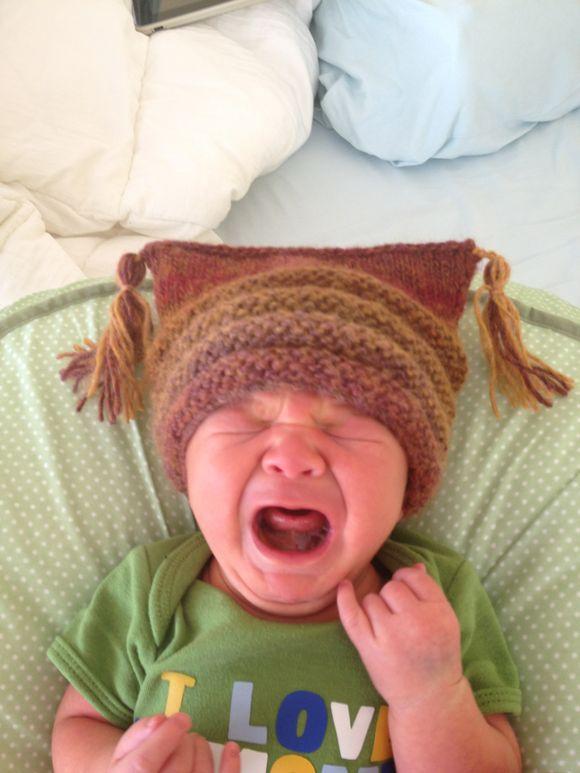 Baby hats aka how I torture my children