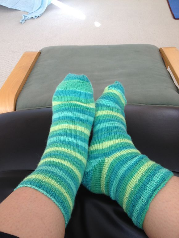 Stripey Shamrock Socks